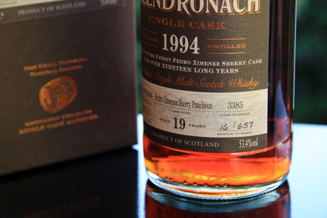 Glendronach 1994 - Label