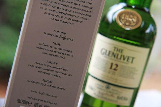 Glenlivet 12 notes