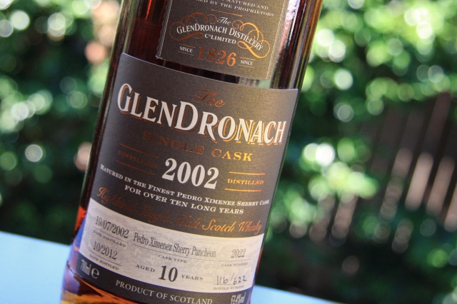 Glendronach 2002 label