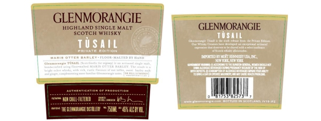 Glenmorangie Tusail label