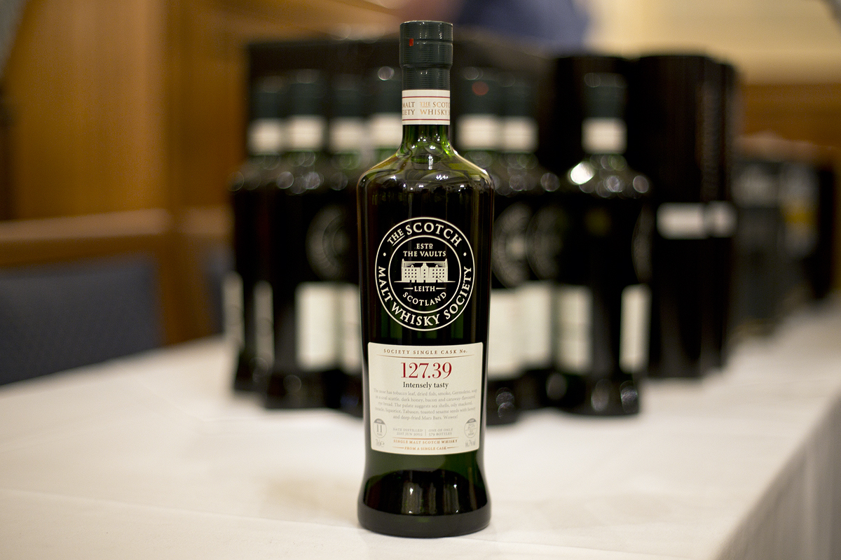 Scotch Malt Whisky Society bottle